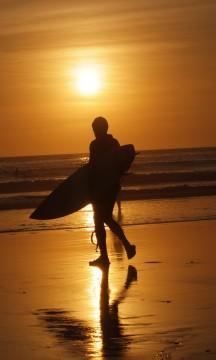 Vakkert surfeparadis. Foto: Runar Larsen.