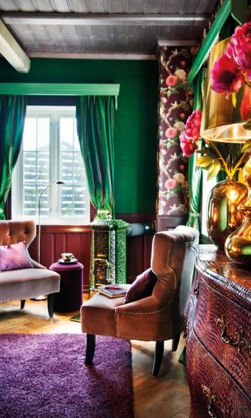Med ulike temaer, representerer rommene på Herangtunet Boutique Hotel land og byer i verden. Foto: Marco Robeerts