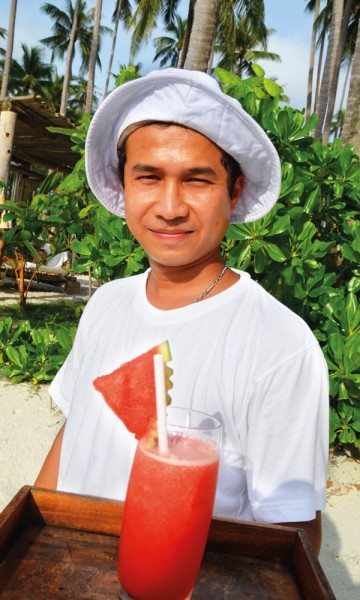 Skal det være et glass ferskpresset melonjuice? Foto: Marte Veimo