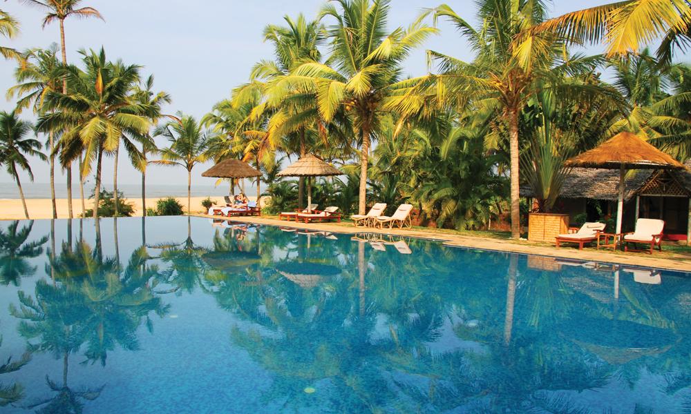 Du velger selv hvor luksuriøst du vil bo i Kerala, men det mangler ikke på alternativ. FOTO: RUNAR LARSEN
