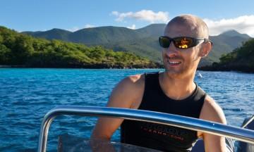 Dykkeguide Brice Bastier elsker Guadeloupe. Foto: Gjermund Glesnes