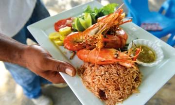 Restaurantene på Guadeloupe får fantastiske råvarer fra havet. Foto: Gjermund Glesnes