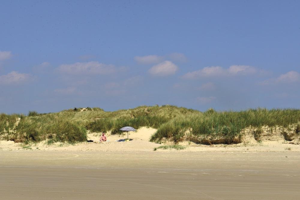 Så godt som hele vestsiden av Fanø er en lang, lang strand. Foto: Gjermund Glesnes