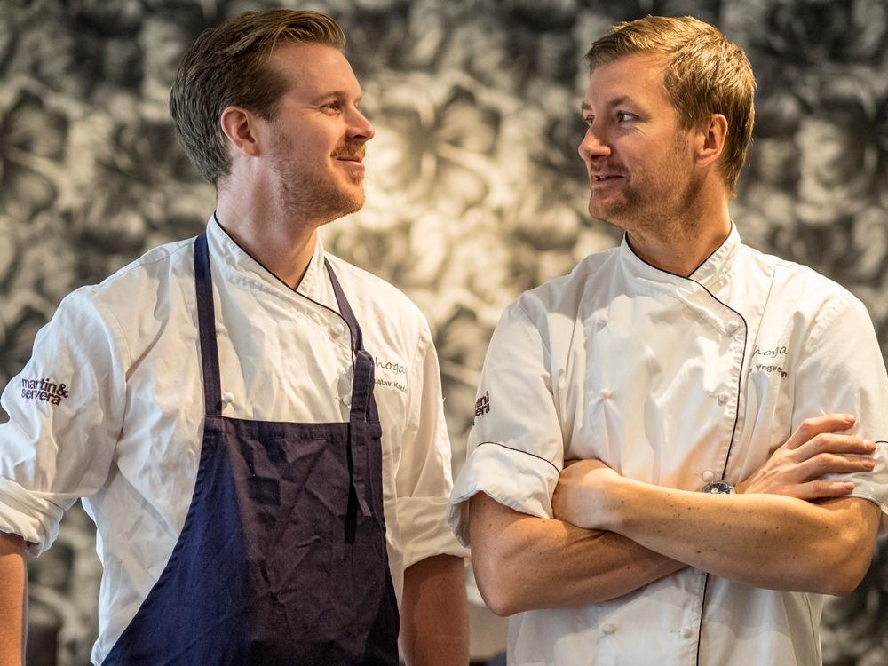 Gustav Knutsson og Niclas Yngvesson, de to kokkene bak Bhoga i Gøteborg beholdt sin ene stjerne i den anerkjente guiden. Foto: Frode Jensen/ Magasinet Reiselyst