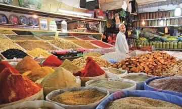 Krydderbasaren inne i berbermarkedet er en fryd for sansene. Foto: Runar Larsen
