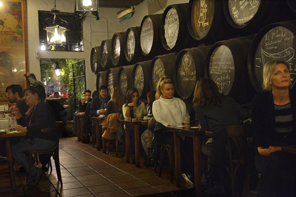 El Pimpi er et av Málagas beste og mest stemningsfulle spisesteder. Foto: Gjermund Glesnes
