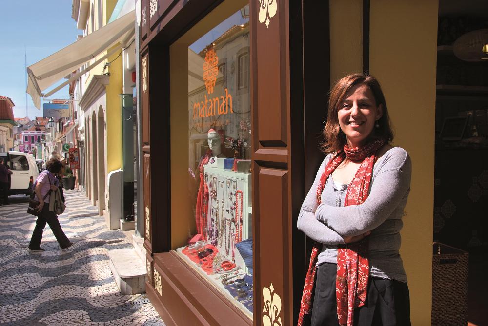 Marina Costa elsker stemningen i bilfrie Cascais. Foto: Runar Larsen