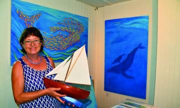 Besøk D.R Lucy i kunstgalleriet Oasis Art Gallery på Bequia. Foto: Torild Moland