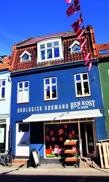 Jægergårdsgade er Århus' svar på Københavns populære Jægerborgsgate og er en deilig del av byen med hyggelige kaffebarer, økologiske butikker og lokale produsenter. Foto: Kjersti Vangerud