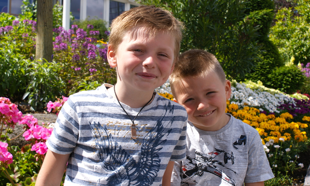 Forventningsfulle: William og Matteus er fulle av forventning til Liseberg. Foto: Testpanelet