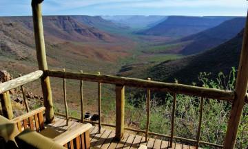 Fantastisk utsikt fra balkongen. Foto: Hans Thomas Holm