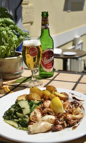 God mat og godt øl - begge deler finnes i Ljubljana. Foto: Torild Moland