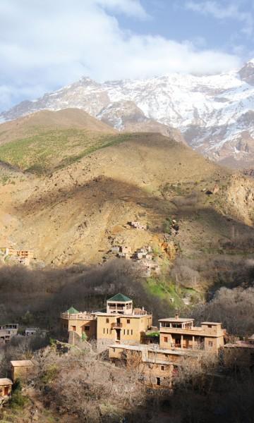 Kasbah du Toubkal ligger godt oppe i høyden, og eneste måten å komme dit på er ved hjelp av eseltaxi eller til fots. Foto: Runar Larsen