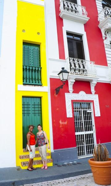 Bygningene i gamlebyen i San Juan er både interessante og fine å se på. Foto: Torild Moland