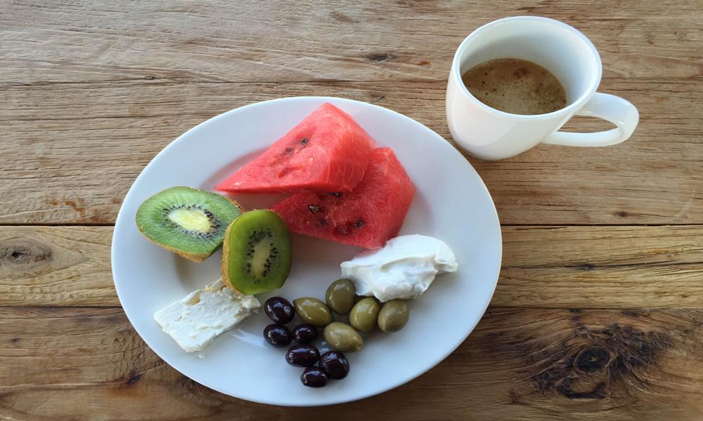 Deilig, gresk frokost. Foto: Henriette Gran Myreng