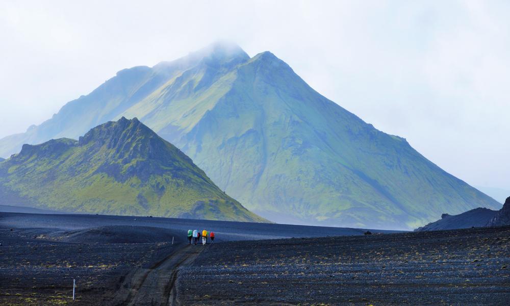 Det er ikke vanskelig å se hvor grusen kommer fra på Mælifellssandur. Foto: Gjermund Glesnes