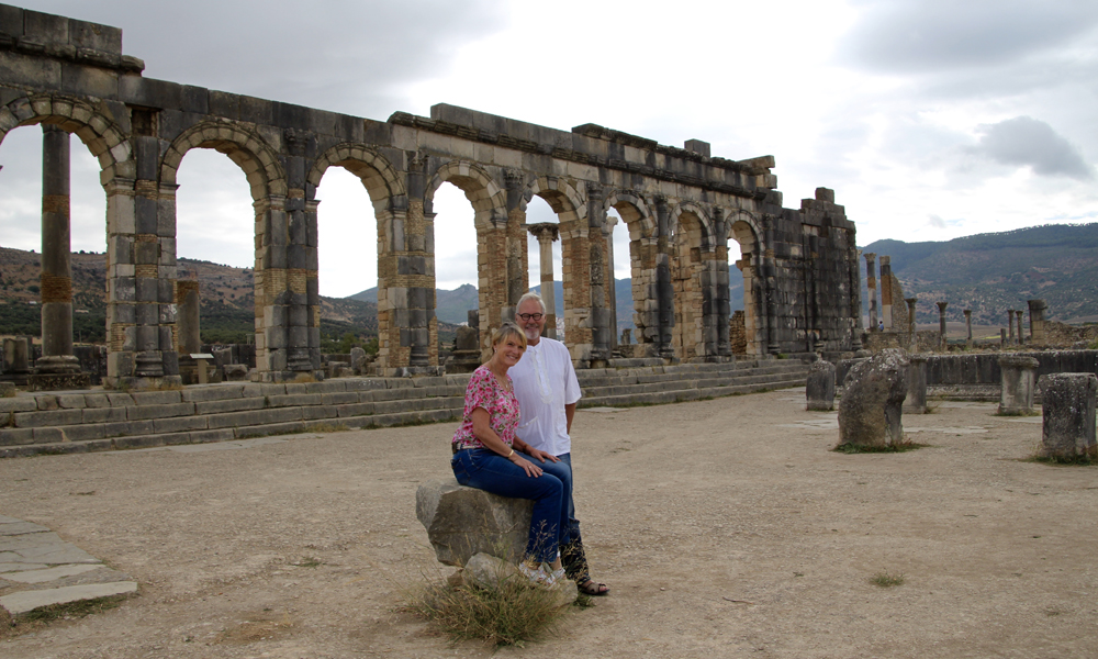 Romerriket var stort. Det gikk som kjent fra Nord-Afrika til sør i England. Her møter vi på vel bevarte ruiner etter en romersk by med hele 20 000 innbyggere. Foto: Hans-Christian Bøhler
