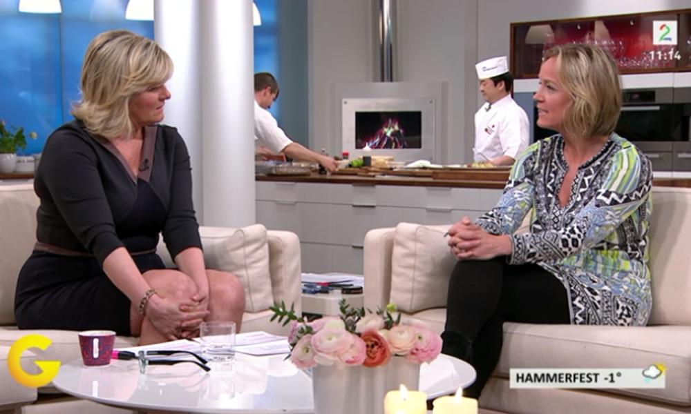 Redaktør Torild Moland deler sine beste reisetips og de siste reisetrendene i sofaen hos God Morgen Norge på TV2. Foto: Skjermdump TV2