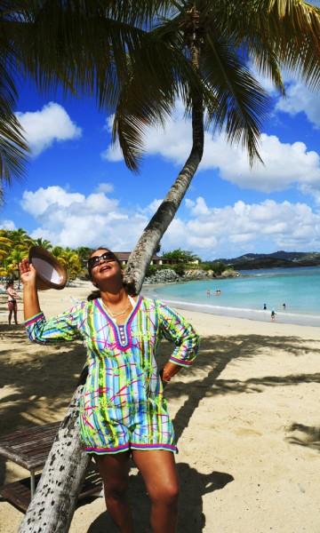 Sharon Rosario fikk flipflops til sommerferien, og når skoene var utslitt, visste hun at ferien var over. Foto: Torild Moland