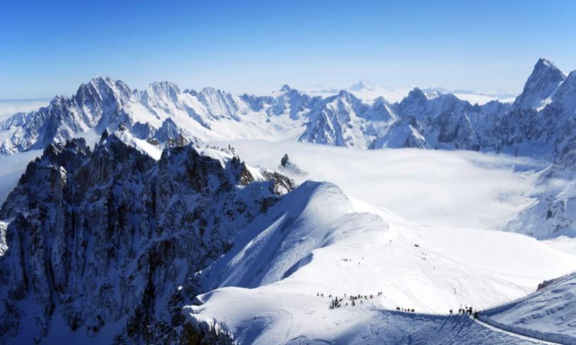 skisteder i alpene