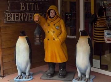 Møtte ikke keiserpingvinene i Antarktis, men her i Ushuaia. Foto: Ann Kristin Balto