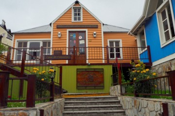 Små fargerike hus i Ushuaia. Foto: Ann Kristin Balto