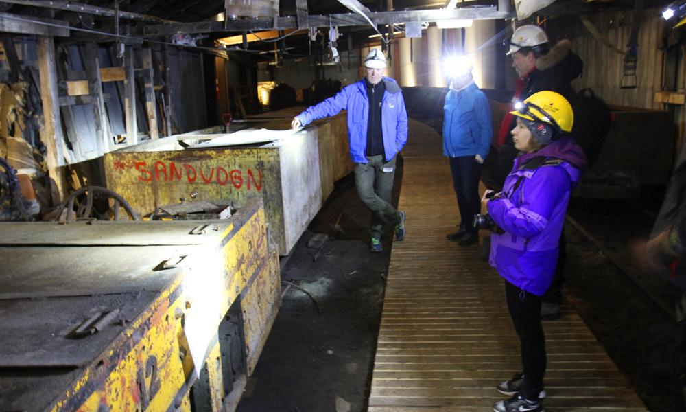 Viktig lokalhistorie er blitt turistattraksjon i nedlagte Gruve 3. Foto: Runar Larsen
