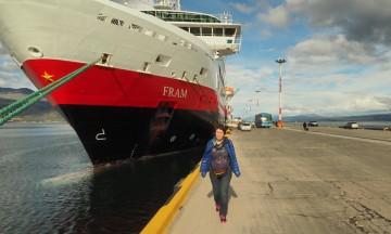 Klar for avreise med MS Fram. Foto: Ann Kristin Balto / Testpanelet