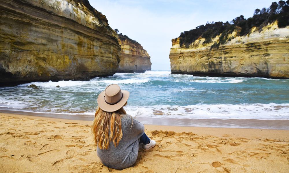 Klipper, koalabjørner, kenguruer og surfere: Langs Great Ocean Road finner vi det typiske Australia. Foto: Mari Bareksten