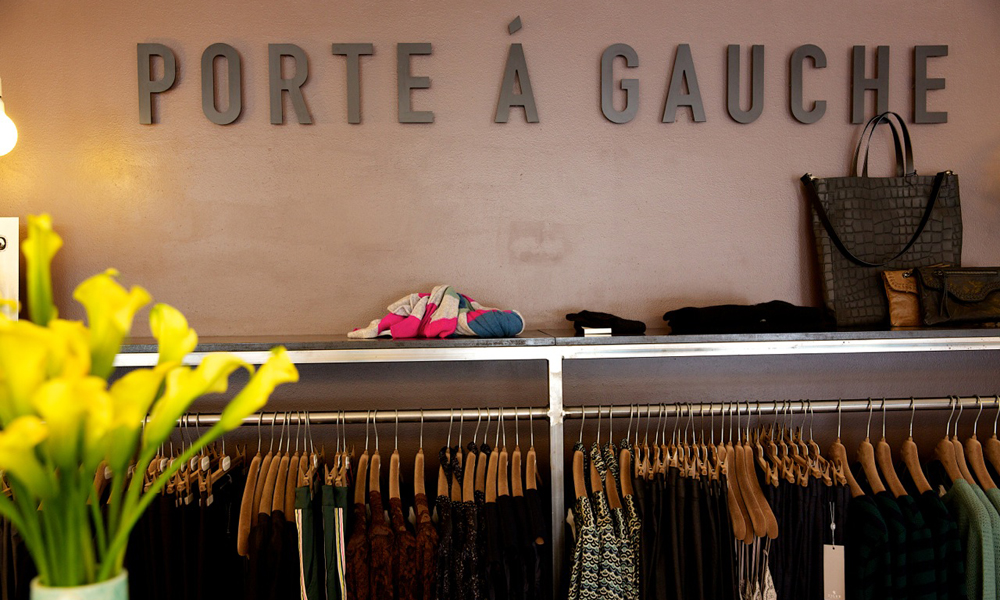 Porte á Gauche fører en rekke kjente merker, som bl.a. By Malene Birger og Tiger of Sweden. Foto: Butikken