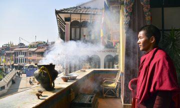 Munken Dawa Sherpa fokuserer på fremtiden, og ønsker turistene tilbake. Foto: Mari Bareksten