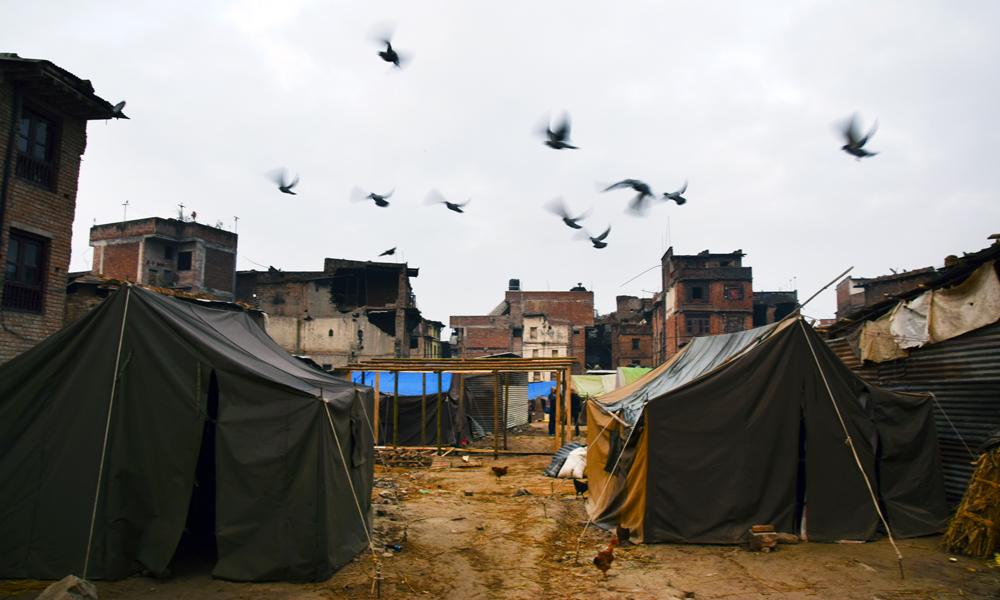 UNESCO-byen Bhaktapur i Kathmandu-dalen var et av områdene som ble hardest rammet av jordskjelvet. Foto: Mari Bareksten