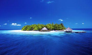 På Maldivene venter strandparadis og skikkelig luksus! Foto: AMI Ariel
