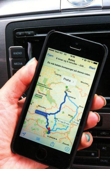 En GPS eller et tradisjonelt kart kan også være lurt å ha med på veien. Foto: Torild Moland