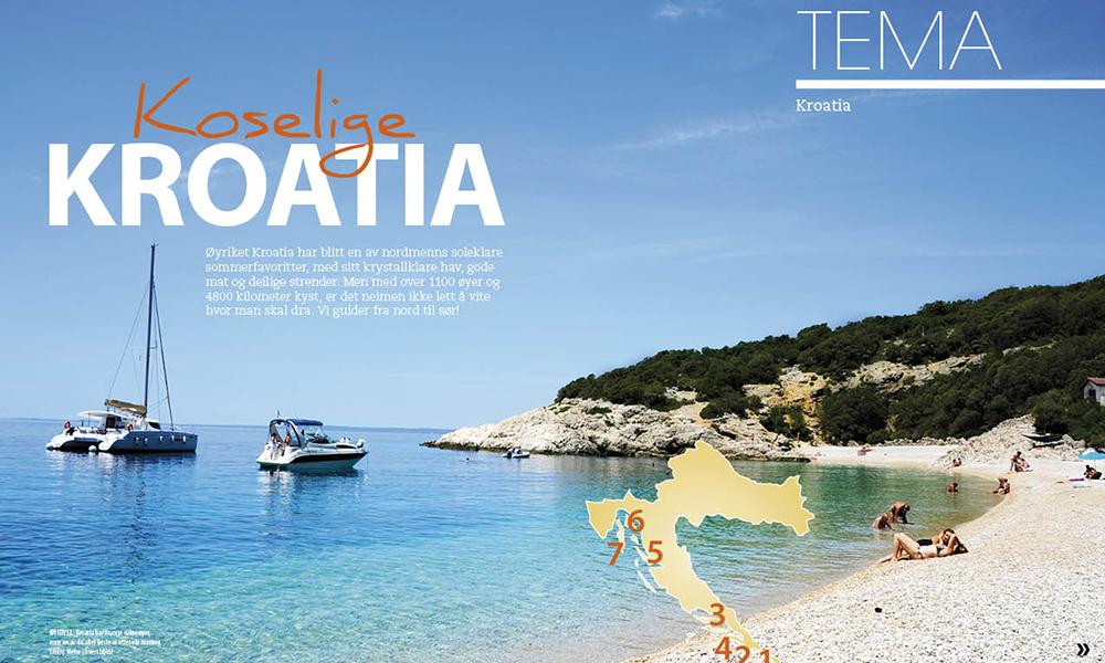 Kroatia har mange vakre øyer. men en av de aller beste er etter vår mening Losinj. Foto: Torild Moland