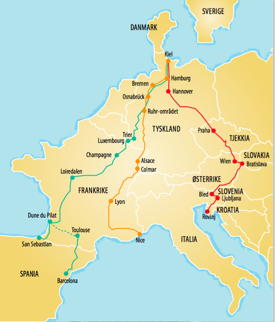 kart europa kjørerute Veien til frihet | MagasiReiselyst kart europa kjørerute