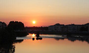 Firenze i solnedgang – et av mange flotte stopp på turen. Foto: Privat