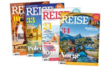 Få fire utgaver av Magasinet Reiselyst for bare 129 kroner.
