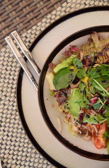 Maten på Asia Gardens henter inspirasjon både fra Middelhavet og fra det asiatiske kjøkken. Foto: Mari Bareksten