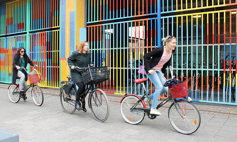 På to hjul i fargerike Rotterdam! Foto: Ida Anett Danielsen
