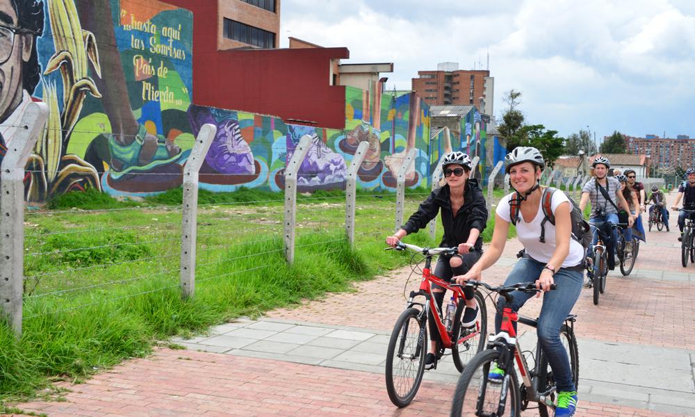 På sykkeltur i Bogota! Foto: Ronny Frimann