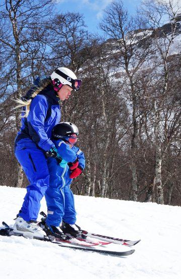 Tidlig krøkes må den som skal bli god på ski. Vangslia er beste område for barnefamilier. Foto: Torild Moland