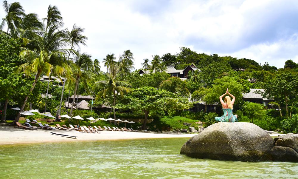 På Kamalaya kan du trene, meditere og spise deg til et sunnere liv. Foto: Mari Bareksten