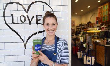 I helsekostkolonialen The Health Emporium Ved Bondi Beach serverer butikksjef Brittni Giles sunne og grønne smoothies. Eller hva med vegansk iskrem eller en inspirerende kokebok? Foto: Mari Bareksten