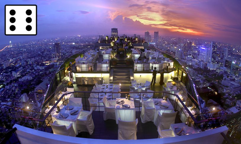 1. Moon bar og Vertigo restaurant - Hotel Banyan Tree