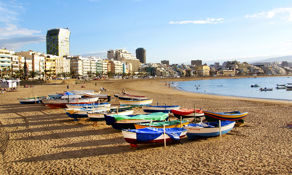 Playa de las Canteras er kanskje den aller beste stranda på hele Gran Canaria. Foto: Runar Larsen