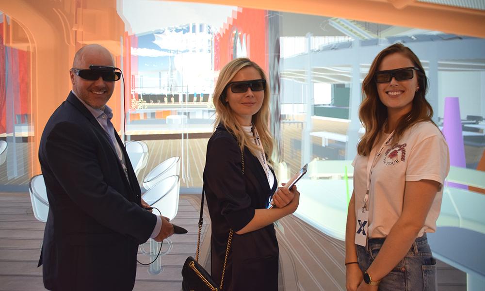 Celebrity Edge er det første cruiseskipet som fullstendig har blitt designet i 3D. Foto: Mari Bareksten