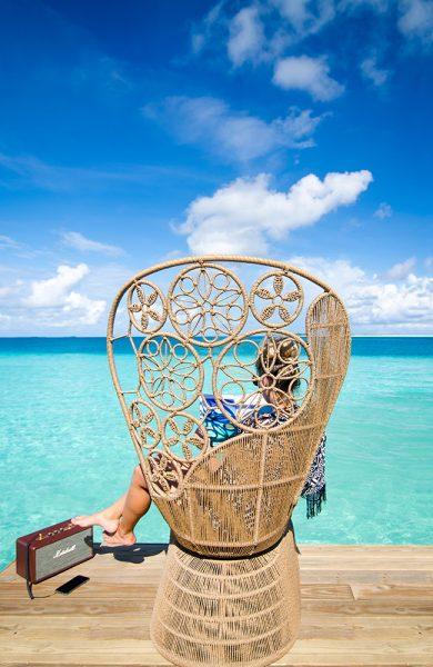 Resortene kappes om å ha de lekreste designdetaljer. Dette er fra nyåpnede Finolhu. Foto: Finolhu