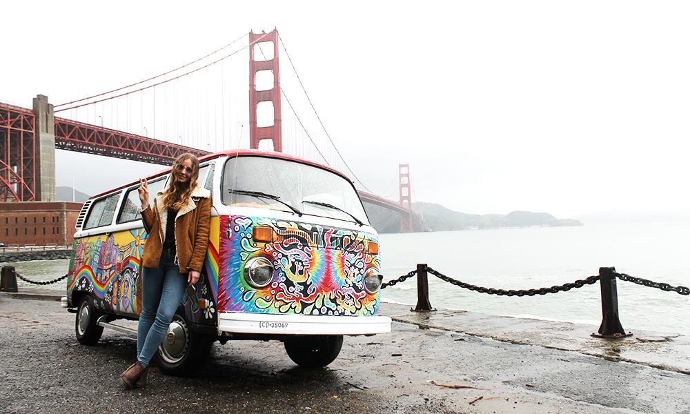 Summer of Love byen er like fargerik og inspirerende den dag i dag. Med SF Love Tours kan du også kjøre gjennom gatene med stil. Foto: Ida Anett Danielsen