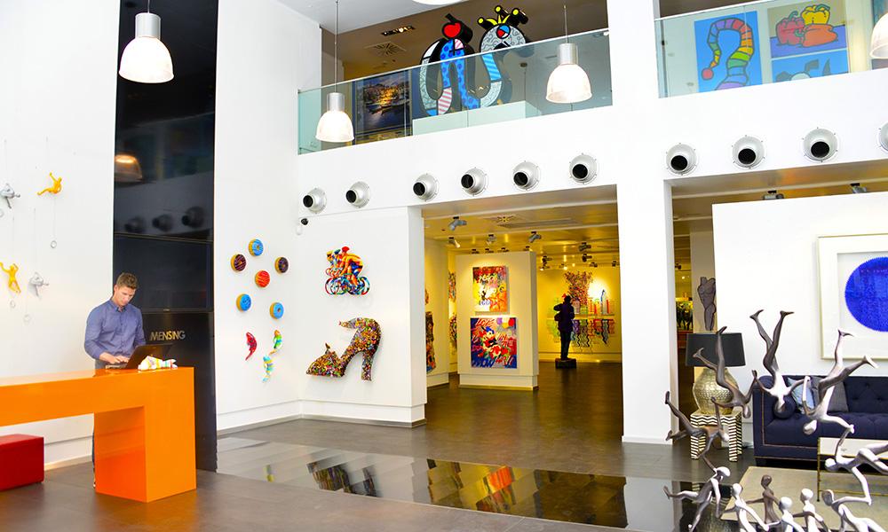 Du finner også en rekke gallerier, som Galerie Mensing. Foto: Torild Moland